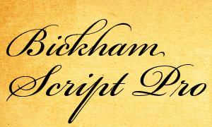 BickhamScriptPro系列英文字体下载