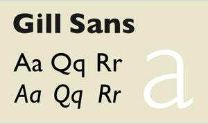 GillSans系列英文字体下载