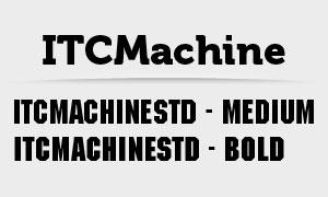 ITCMachineStd系列字体下载