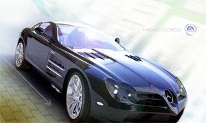 梅赛德斯奔驰跑车海报设计源文件