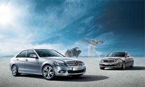 梅赛德斯奔驰C级轿车广告设计源文件