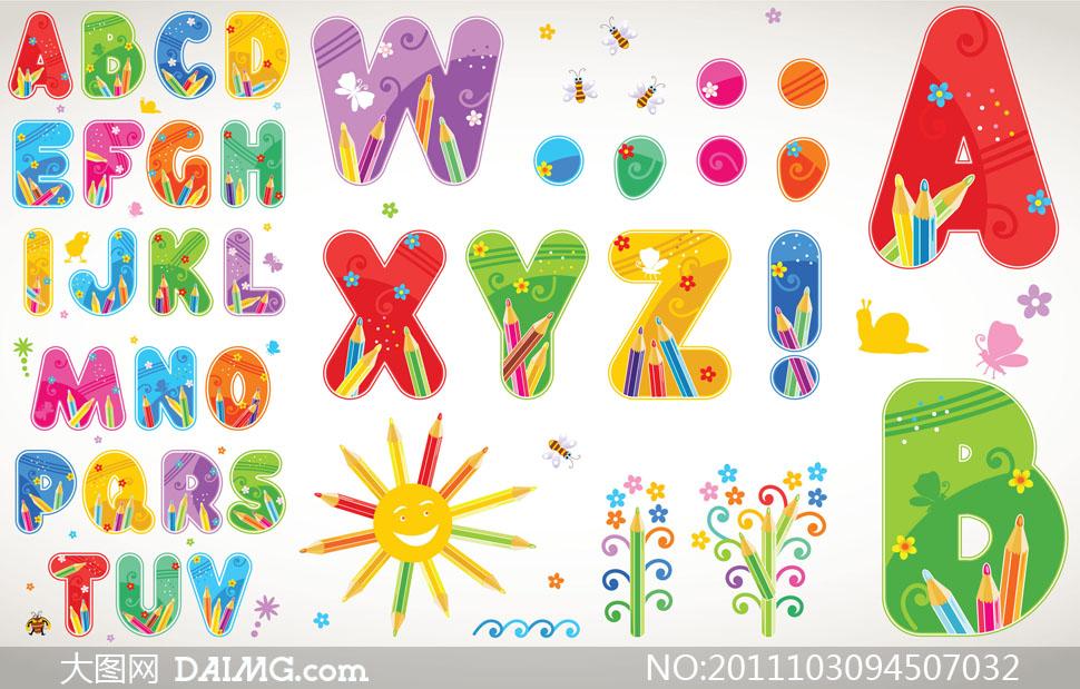 英文字体创意字母创意字体可爱字体卡通字体可爱字母