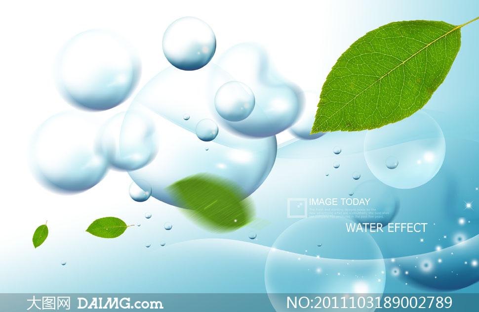关键词: psd分层素材韩国素材树叶叶子绿叶水珠水泡泡泡圆圈落叶飘落