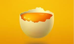 漂亮的鸡蛋和蛋黄PSD源文件