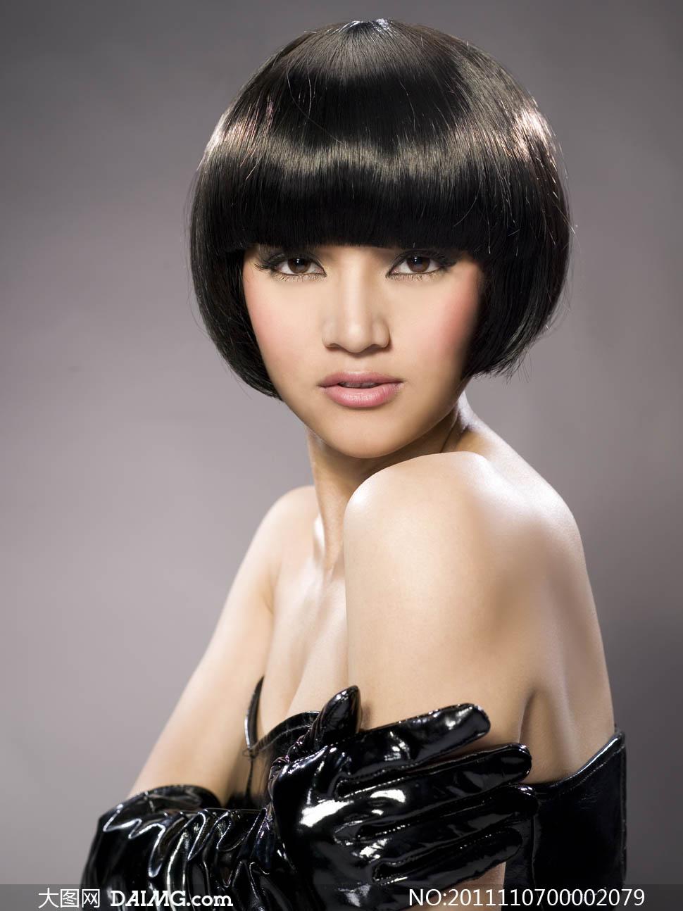 理发店发型设计摄影图片