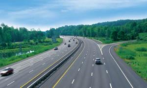 高速公路鸟瞰图摄影图片