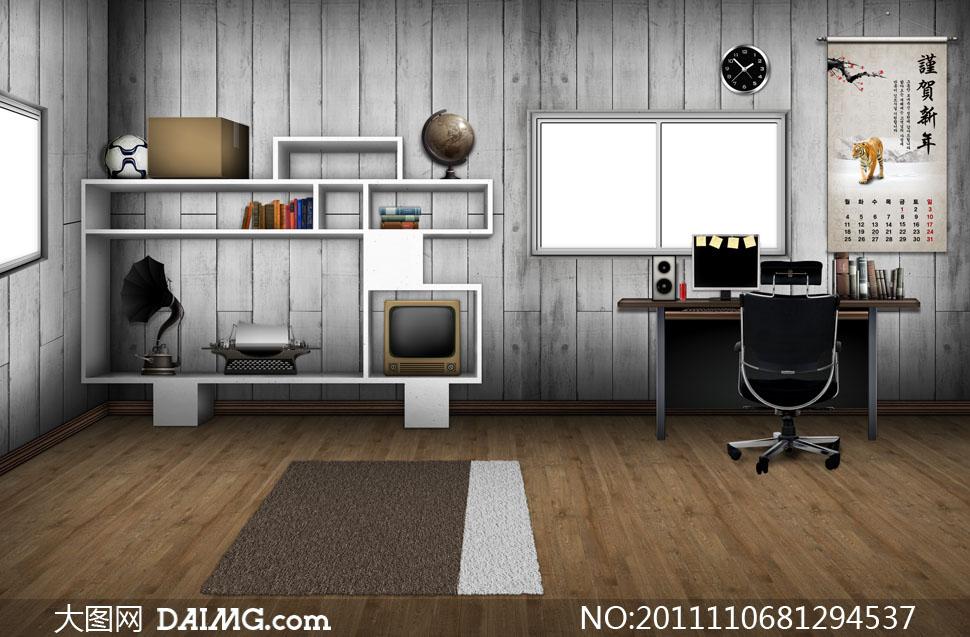 室内房间家具摆设陈列psd分层素材