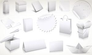 纸盒手提袋等设计模板矢量素材
