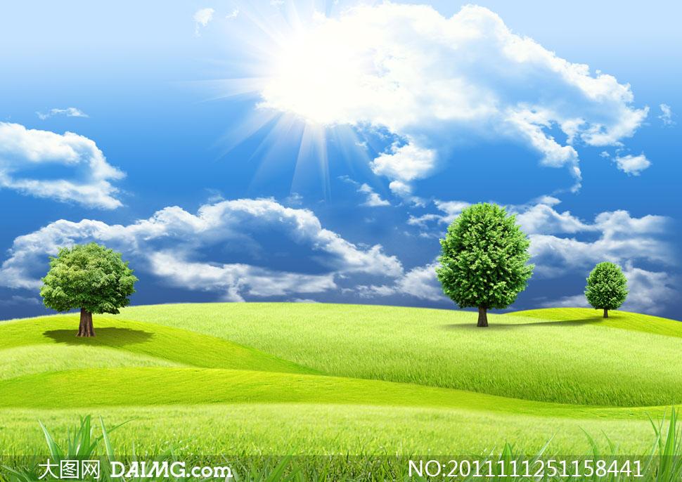 上的春夏自然风景高清摄影图片