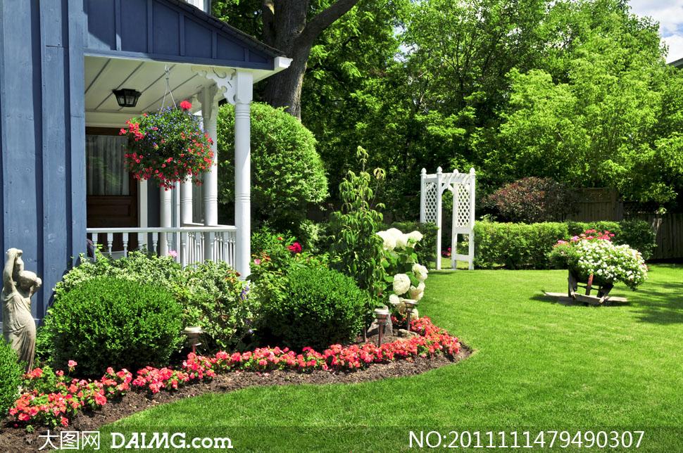 欧式风格花园别墅高清摄影图片