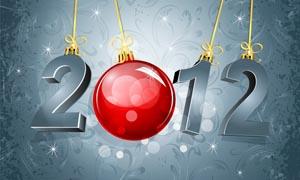 2012圣诞节背景设计矢量素材