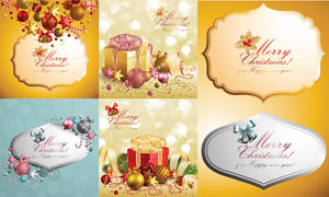 圣诞节主题背景设计矢量素材