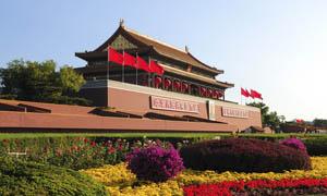 天安门节日摄影图片