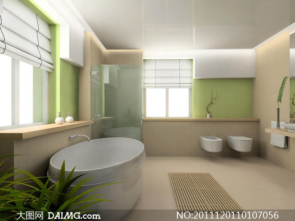 浴室洗手间室内装修效果高清图片