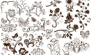 超美的设计花纹笔刷