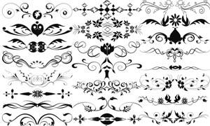 欧式花纹装饰笔刷