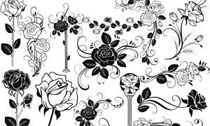花朵边角笔刷