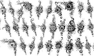 时尚花纹装饰笔刷