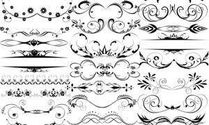 欧式装饰花纹笔刷