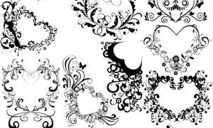 心形花纹装饰笔刷