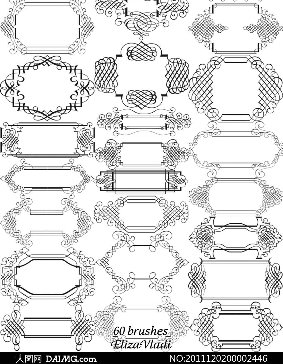 简单边框花纹素材-简单边框花纹简笔画|手抄报边框插图|边框简单又