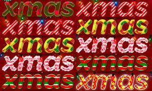 可爱的糖果圣诞字体样式