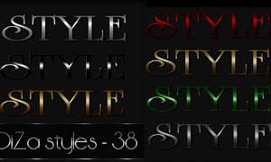 金属质感字体样式