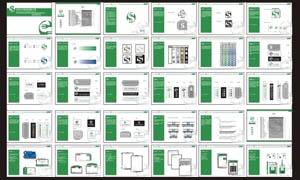 餐具企业VI设计模板矢量素材
