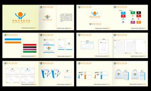 校园VI设计模板矢量素材