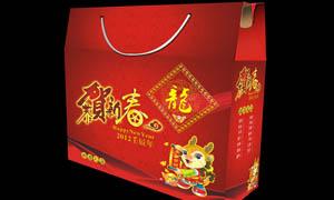 2012龙年礼盒设计矢量素材