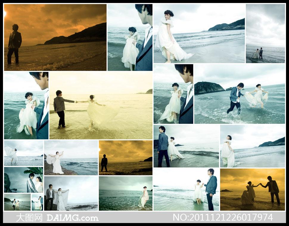 韩式海浪 手绘