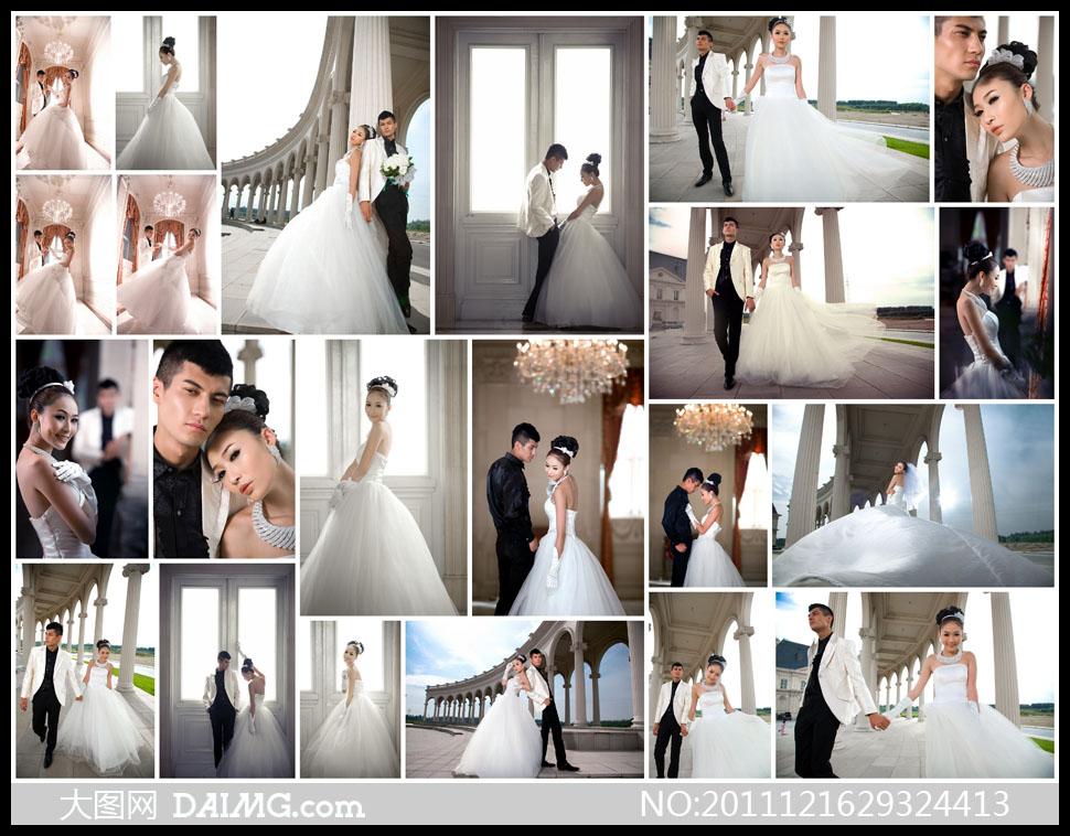 样片外景摄影外景拍摄美女帅哥白色婚纱婚纱礼服欧式