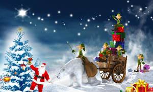 梦幻圣诞节海报设计PSD源文件