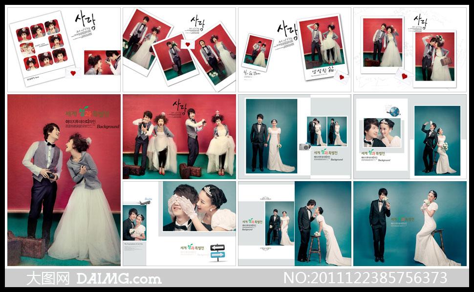 照样册婚纱写真样册设计相册设计版式设计版面设计笑容甜蜜幸福开心图片