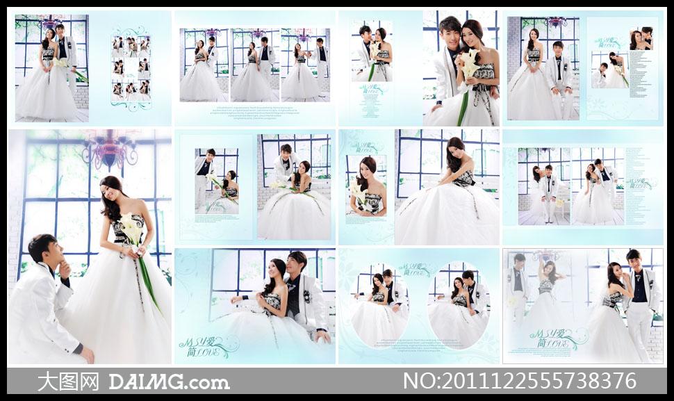 婚纱照摄影样册设计相册设计版式设计版面设计样册版面样册版式美女图片