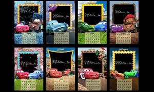 2012年汽车总动员日历模板PSD源文件