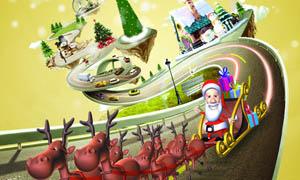 圣诞节形象海报设计PSD分层素材