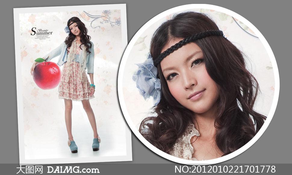 夏日雪纺裙美女人物高清摄影图片