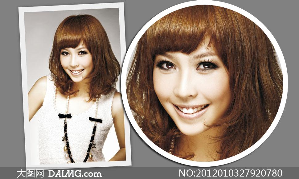 凌乱梨花头发型美女模特高清摄影图片 大图网