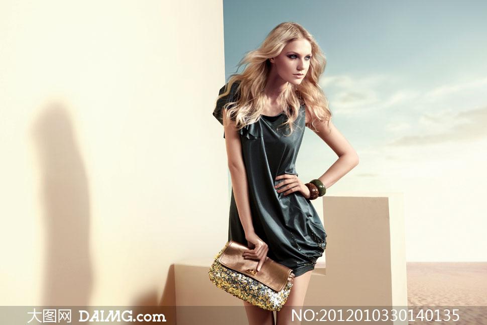 时尚美女美发模特摄影图片 大图网设计素材下载