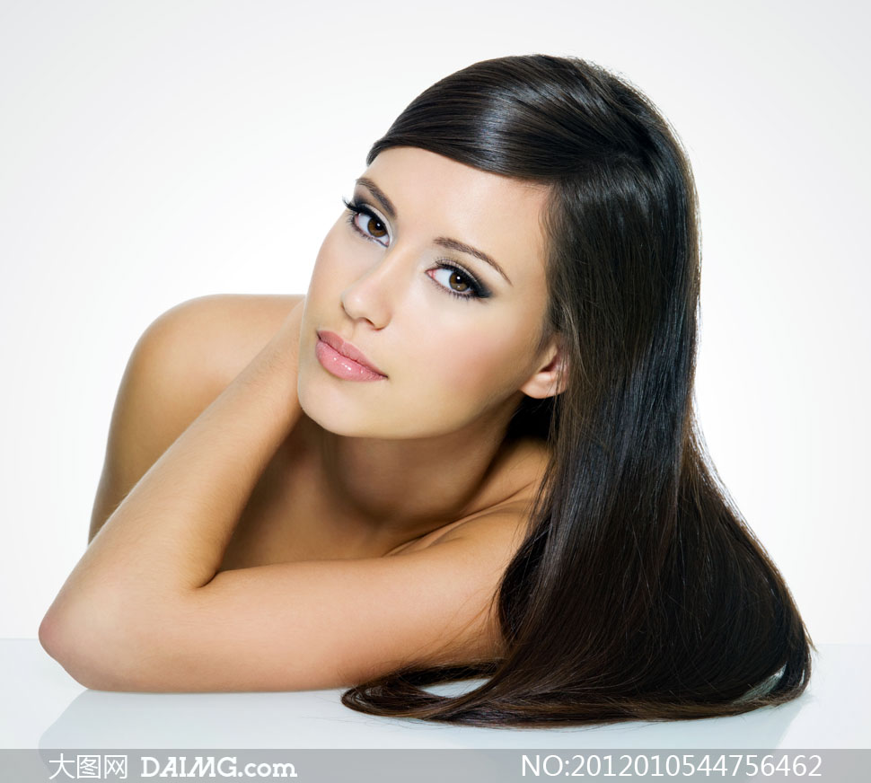 高清摄影图片大图素材美女女性人物女人头发