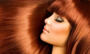 咖啡色头发美女人物高清摄影图片