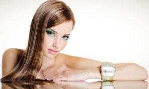 外国长发美女模特人物高清摄影图片