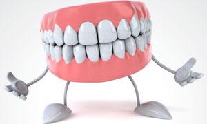 牙齿牙龈卡通形象高清图片
