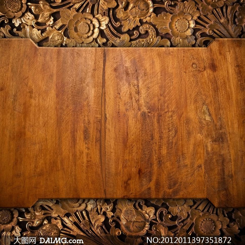 高清大图素材摄影图片木纹木板木质材质贴图铁艺铁画雕刻木雕雕花