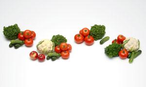 西红柿花菜等蔬菜高清摄影图片