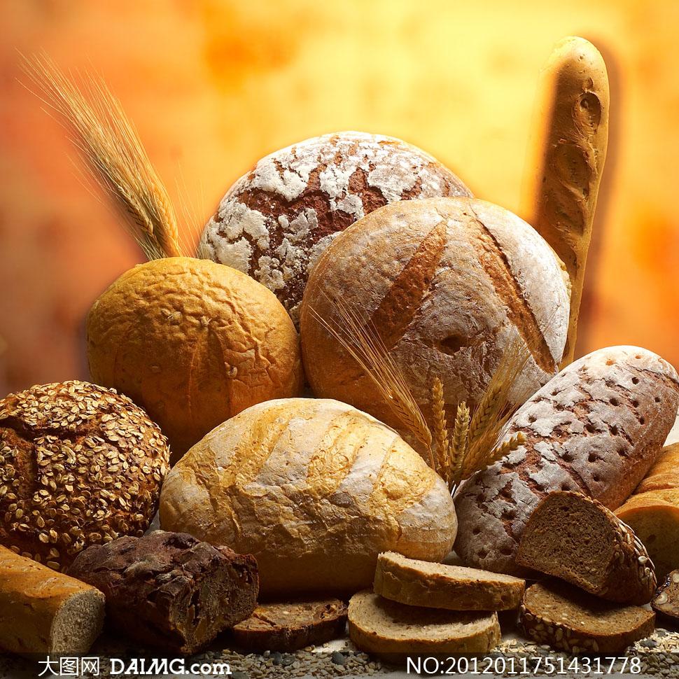一堆面包等粗粮食物高清摄影图片 - 大图网设计素材图片