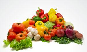 辣椒番茄洋葱等蔬菜高清摄影图片