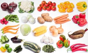 番茄辣椒土豆等蔬菜高清摄影图片