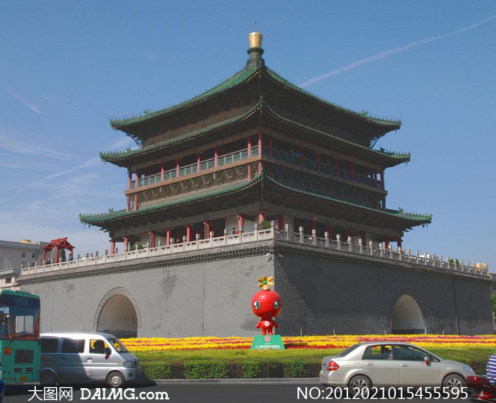 陕西西安钟楼高清摄影图片